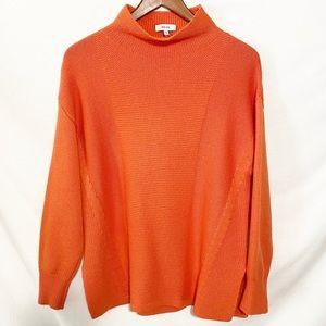 REISS orange soft knit sweater size medium